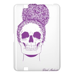 Purple Skull Bun Up Kindle Fire Hd 8 9  Hardshell Case