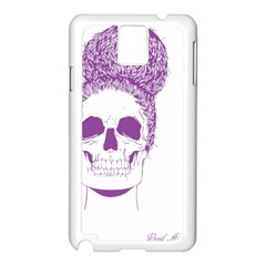 Purple Skull Bun Up Samsung Galaxy Note 3 N9005 Case (White)