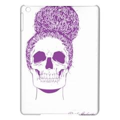 Purple Skull Bun Up Apple iPad Air Hardshell Case