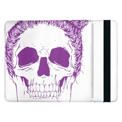 Purple Skull Bun Up Samsung Galaxy Tab Pro 12.2  Flip Case