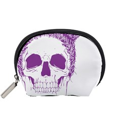 Purple Skull Bun Up Accessory Pouch (Small)
