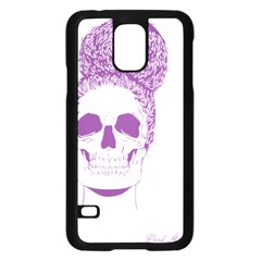 Purple Skull Bun Up Samsung Galaxy S5 Case (Black)