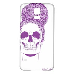Purple Skull Bun Up Samsung Galaxy S5 Back Case (White)