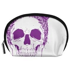 Purple Skull Bun Up Accessory Pouch (large)