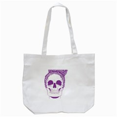 Purple Skull Bun Up Tote Bag (White)