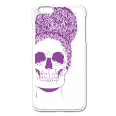 Purple Skull Bun Up Apple Iphone 6 Plus Enamel White Case