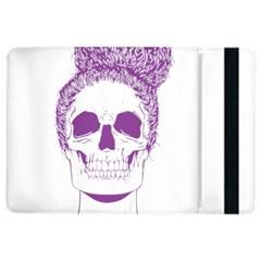 Purple Skull Bun Up Apple iPad Air 2 Flip Case