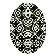 Abstract Geometric Modern Pattern  Oval Ornament