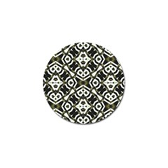 Abstract Geometric Modern Pattern  Golf Ball Marker 4 Pack
