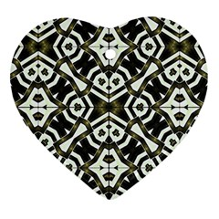 Abstract Geometric Modern Pattern  Heart Ornament (two Sides)