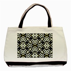 Abstract Geometric Modern Pattern  Twin Sided Black Tote Bag