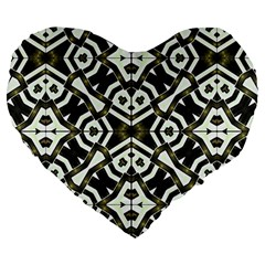 Abstract Geometric Modern Pattern  19  Premium Heart Shape Cushion