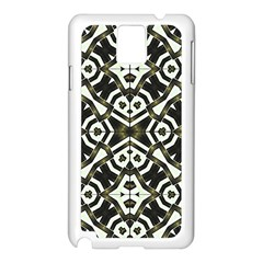 Abstract Geometric Modern Pattern  Samsung Galaxy Note 3 N9005 Case (White)