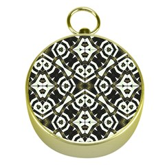 Abstract Geometric Modern Pattern  Gold Compass
