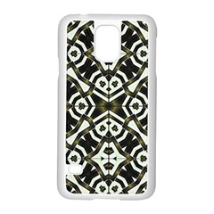 Abstract Geometric Modern Pattern  Samsung Galaxy S5 Case (White)