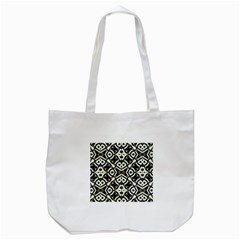 Abstract Geometric Modern Pattern  Tote Bag (White)