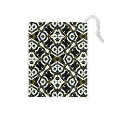 Abstract Geometric Modern Pattern  Drawstring Pouch (Medium)