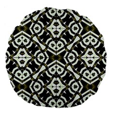 Abstract Geometric Modern Pattern  18  Premium Flano Round Cushion