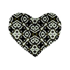 Abstract Geometric Modern Pattern  16  Premium Flano Heart Shape Cushion