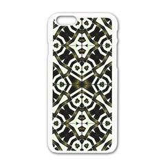 Abstract Geometric Modern Pattern  Apple Iphone 6 White Enamel Case