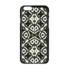Abstract Geometric Modern Pattern  Apple Iphone 6 Black Enamel Case