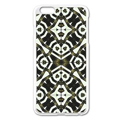 Abstract Geometric Modern Pattern  Apple iPhone 6 Plus Enamel White Case