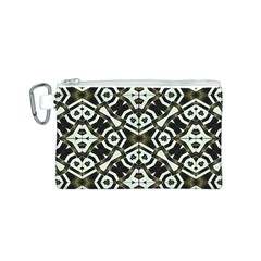 Abstract Geometric Modern Pattern  Canvas Cosmetic Bag (small)