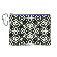 Abstract Geometric Modern Pattern  Canvas Cosmetic Bag (Large)