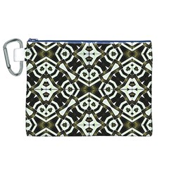 Abstract Geometric Modern Pattern  Canvas Cosmetic Bag (XL)