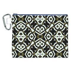 Abstract Geometric Modern Pattern  Canvas Cosmetic Bag (XXL)