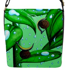 Playing In The Rain Flap Closure Messenger Bag (small)