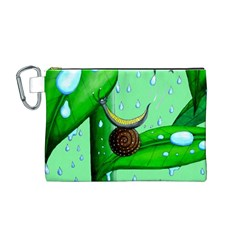 Playing In The Rain Canvas Cosmetic Bag (Medium)