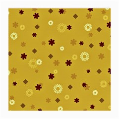 Abstract Geometric Shapes Design In Warm Tones Glasses Cloth (medium, Two Sided)