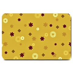 Abstract Geometric Shapes Design In Warm Tones Large Door Mat