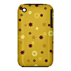 Abstract Geometric Shapes Design in Warm Tones Apple iPhone 3G/3GS Hardshell Case (PC+Silicone)