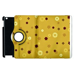 Abstract Geometric Shapes Design in Warm Tones Apple iPad 2 Flip 360 Case
