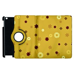 Abstract Geometric Shapes Design In Warm Tones Apple Ipad 3/4 Flip 360 Case
