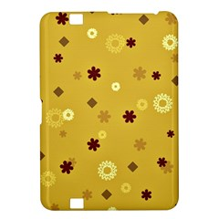 Abstract Geometric Shapes Design in Warm Tones Kindle Fire HD 8.9  Hardshell Case