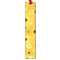 Abstract Geometric Shapes Design in Warm Tones Large Bookmark