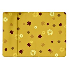 Abstract Geometric Shapes Design in Warm Tones Samsung Galaxy Tab 10.1  P7500 Flip Case