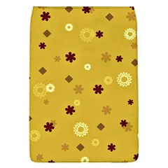 Abstract Geometric Shapes Design In Warm Tones Removable Flap Cover (large)