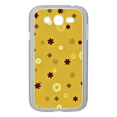 Abstract Geometric Shapes Design in Warm Tones Samsung Galaxy Grand DUOS I9082 Case (White)
