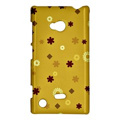 Abstract Geometric Shapes Design In Warm Tones Nokia Lumia 720 Hardshell Case