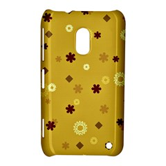 Abstract Geometric Shapes Design in Warm Tones Nokia Lumia 620 Hardshell Case