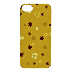 Abstract Geometric Shapes Design In Warm Tones Apple Iphone 5s Hardshell Case