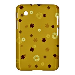 Abstract Geometric Shapes Design In Warm Tones Samsung Galaxy Tab 2 (7 ) P3100 Hardshell Case