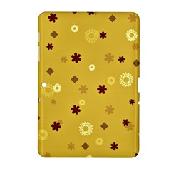 Abstract Geometric Shapes Design In Warm Tones Samsung Galaxy Tab 2 (10 1 ) P5100 Hardshell Case