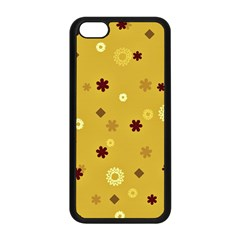 Abstract Geometric Shapes Design in Warm Tones Apple iPhone 5C Seamless Case (Black)