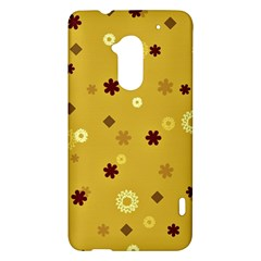 Abstract Geometric Shapes Design in Warm Tones HTC One Max (T6) Hardshell Case