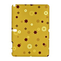 Abstract Geometric Shapes Design in Warm Tones Samsung Galaxy Note 10.1 (P600) Hardshell Case